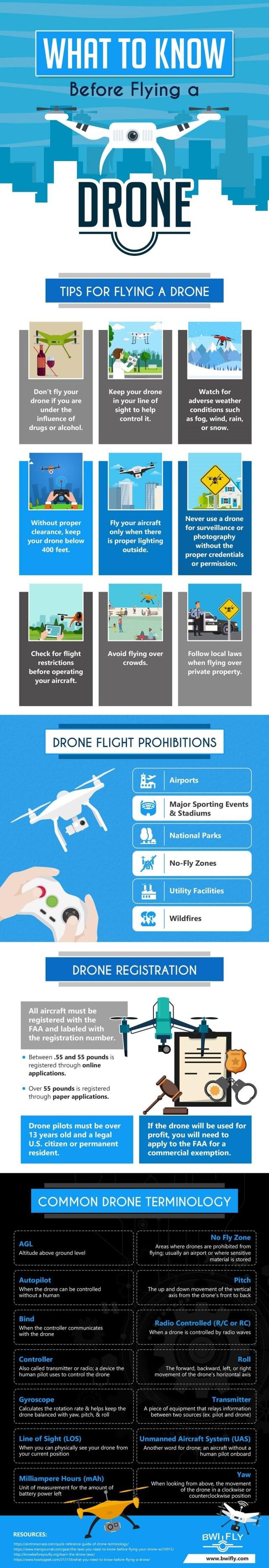 Flying Drone info