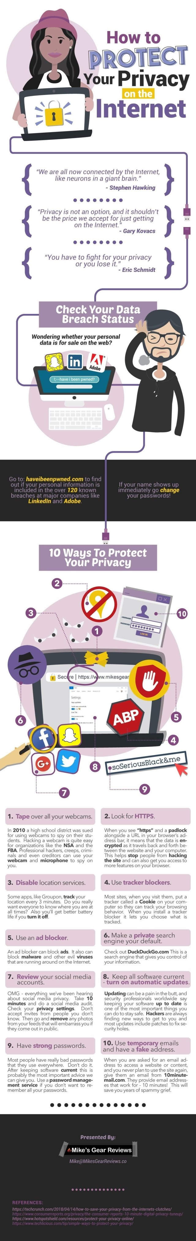 Protect Privacy info