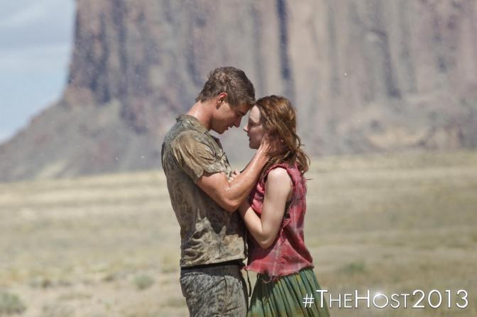 Max Irons as Jared Howe and Saoirse Ronan as Melanie Stryder - image by The Official The Host Facebook page