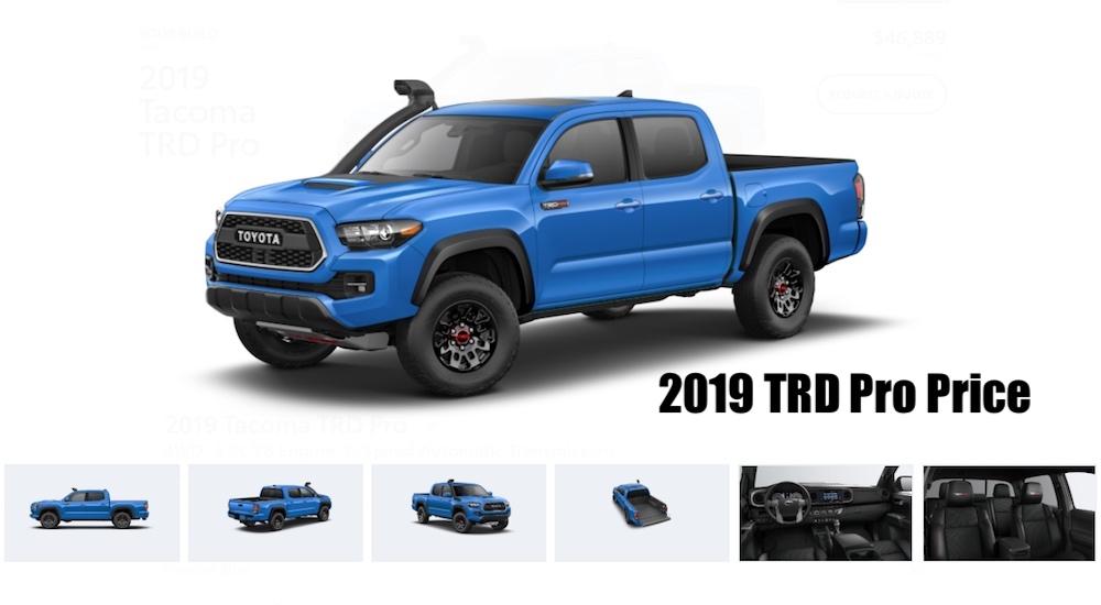 2019 toyota tacoma configure your