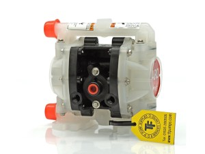 "Aro¨ PE01P-HPS-PTT-ADF Compact Series 1/4"" Diaphragm Pump With Polypropylene Centre Section & Body (Polypropylene Seats"