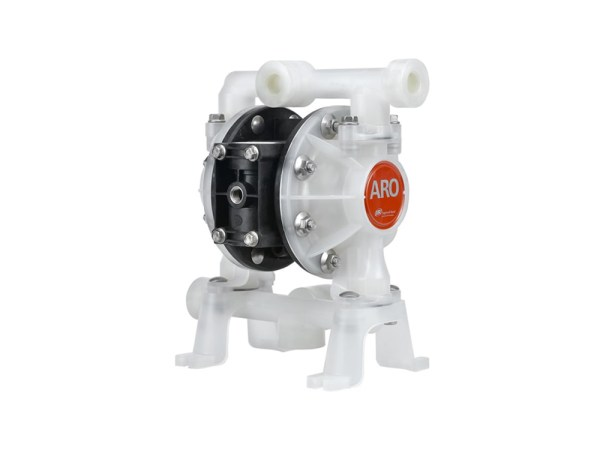 "Aro¨ PE05P-BRS-PTT-BDE Compact Series 1/2"" Diaphragm Pump With Polypropylene Centre Section and Polypropylene (Miltiple Port) Body (Polypropylene Seats"
