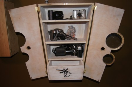 Camera Cabinet - open