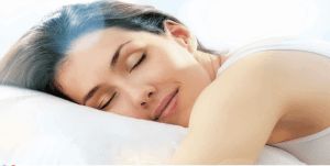 An image of a sleeping woman