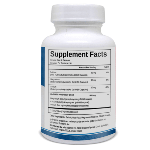 An image of one bottle showing product supplement facts