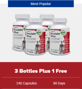 An image of 4 bottles of ProJoint Plus offer - Joint support supplements