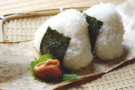 Rice ball with pickled plum
