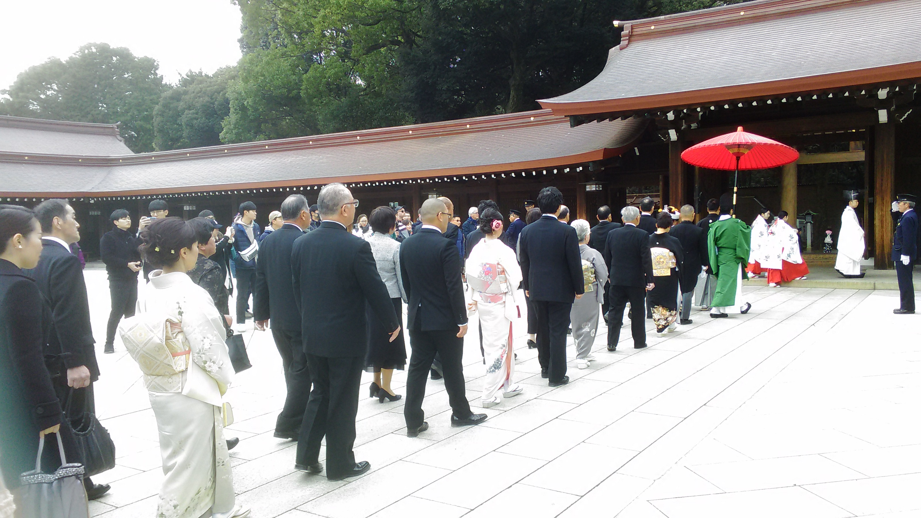 A Japanese wedding in line with the Shinto ritual