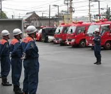 A syobodan, local firefighters