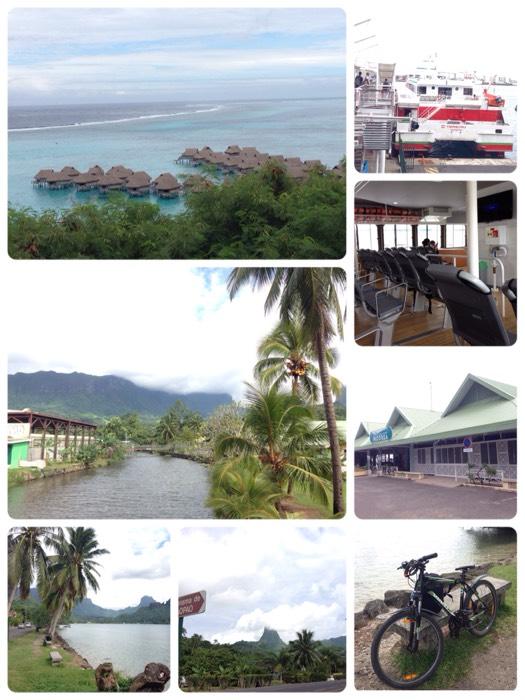 サイクリング in モーレア島。