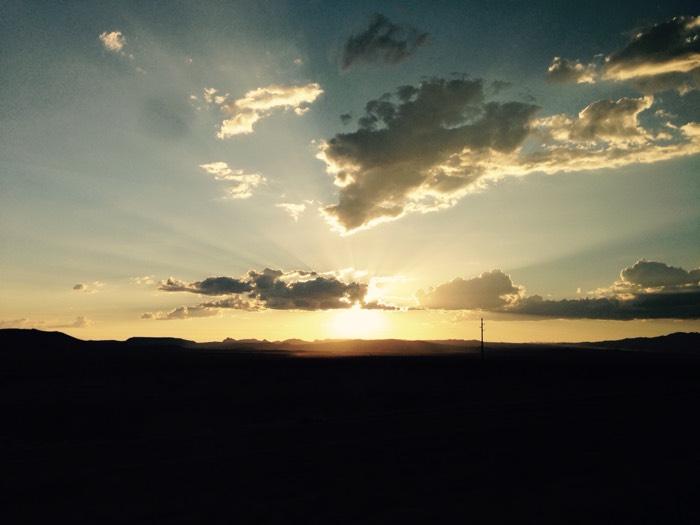 ラスベガスの夕陽。