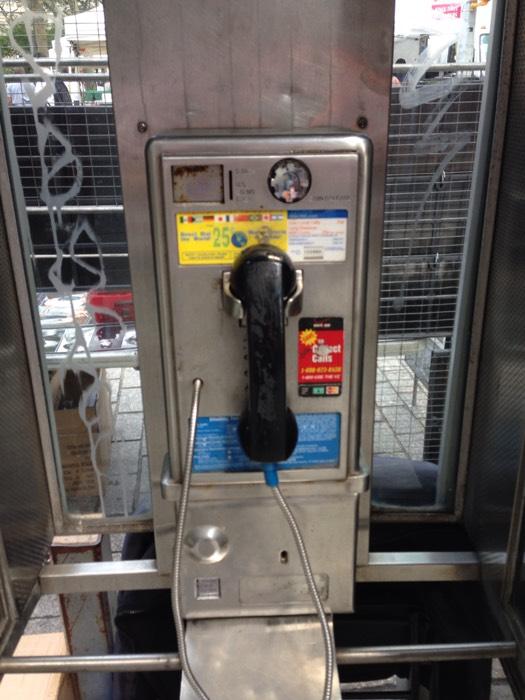 ニューヨークの公衆電話。