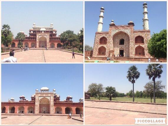 ムガル建築の代表作、アクバル廟。