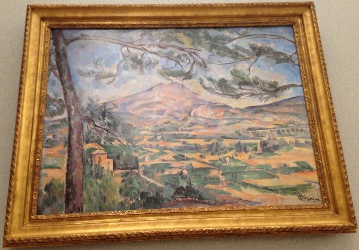 松の木があるサント=ヴィクトワール山 ポール・セザンヌ