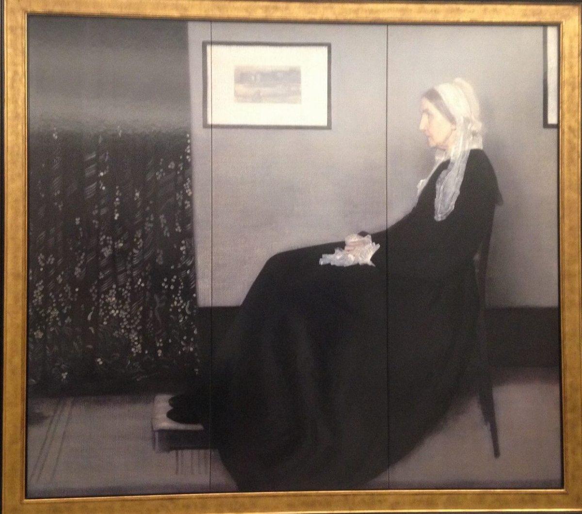 灰色と黒のアレンジメント 第1番 画家の母の肖像 ホイッスラー