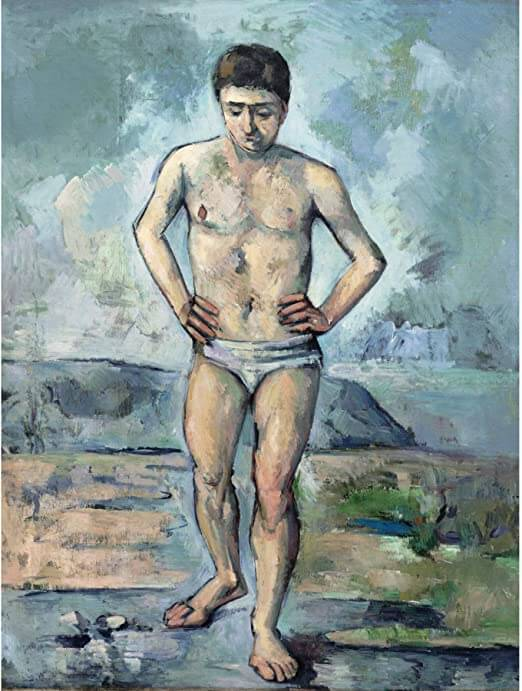 水浴の男 ポール・セザンヌ