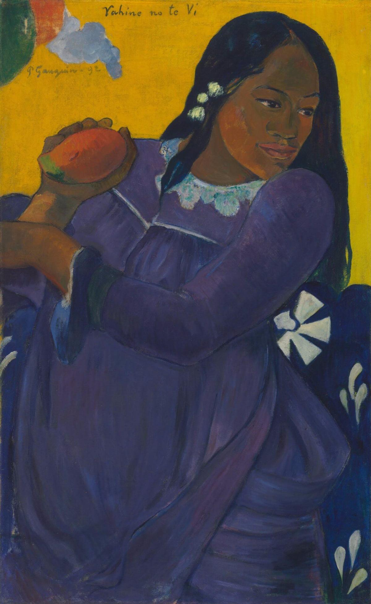 マンゴーを持つ女 ポール・ゴーギャン