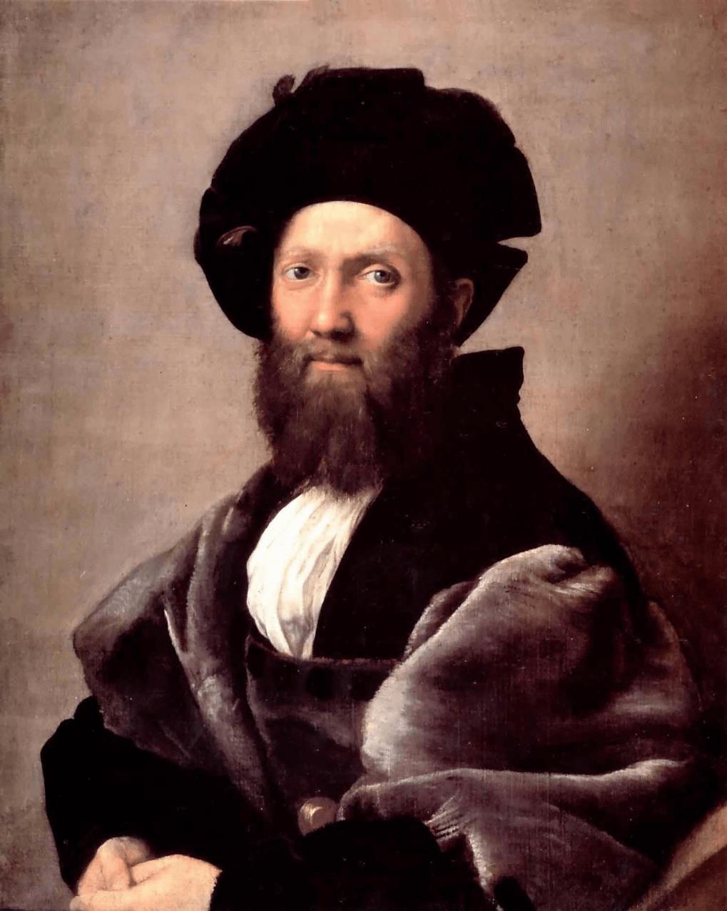 バルダッサッレ・カスティリオーネの肖像 ラファエッロ・サンツィオ