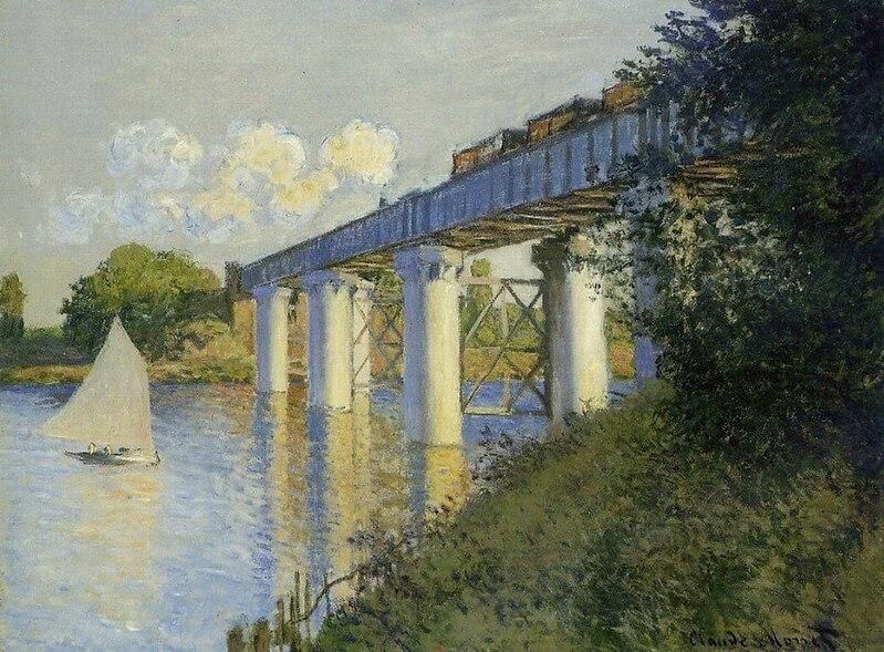 アルジャントゥイユの鉄道橋 クロード・モネ