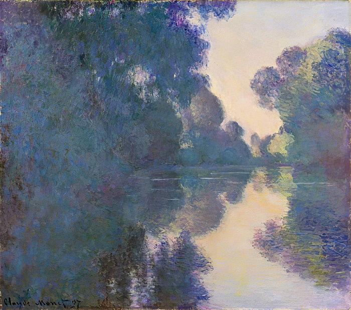 ジヴェルニー近郊のセーヌ川の朝 クロード・モネ