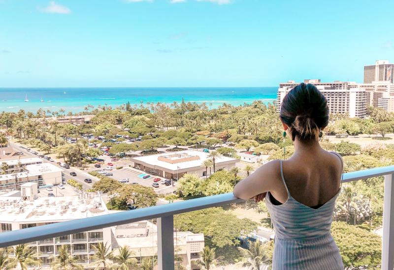 リッツカールトンレジデンスワイキキビーチの部屋からの眺望