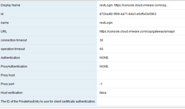 vRO host configuration