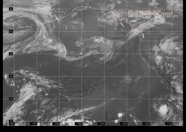 West Pacific satellite image