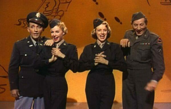 Bing Crosby, Vera Ellen, Rosemary Clooney, and Danny Kaye in White Christmas (1954)