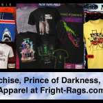 JAWS Franchise, Prince of Darkness, Texas Chainsaw 2, Killer Klowns, and Night of the Creeps Apparel at Fright-Rags