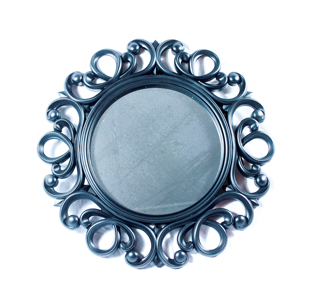 Old World Style Carved Fancy Round Wall Hanging Mirror Home Decor Tggprime The Gift Globe Prime