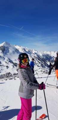 School Student Skiing