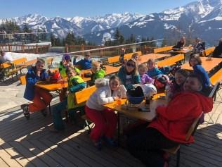 School Ski trip Lunch Stop
