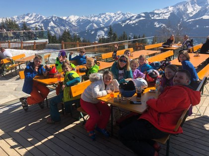 School Ski trip Lunch Stop