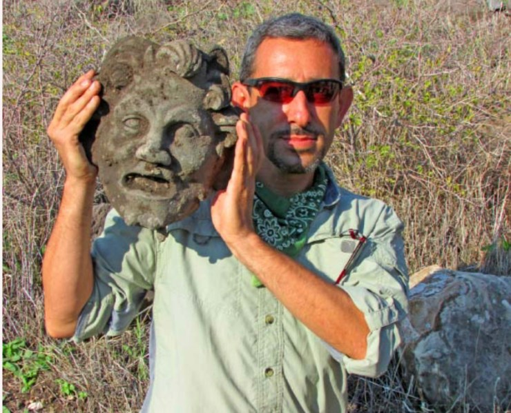 Bronze Mask of Pan discovered