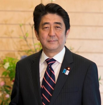 Shinzo Abe, current serving Prime Minister of Japan