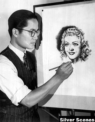 Keye Luke illustrating - Silver Scenes