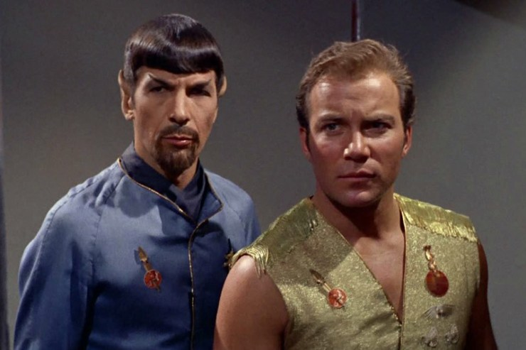 "Kirk and Spock in TOS ""Mirror Mirror"""