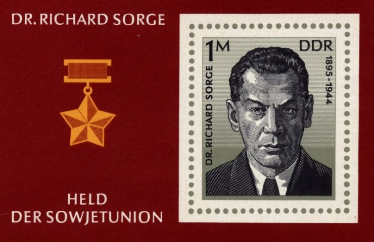Richard Sorge was even placed on an East German stamp