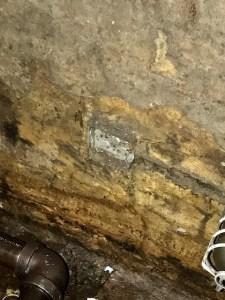 Elevator Pit Wall Eroding
