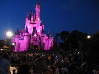 Cinderella's castle before the fireworks