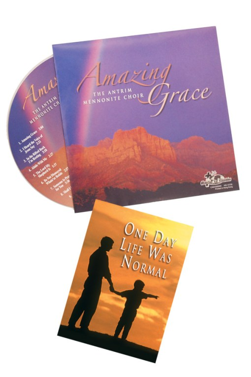 Amazing Grace CD in envelope with tract