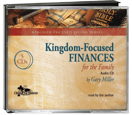 Kingdom-Focused Finances for the Family Audio CD