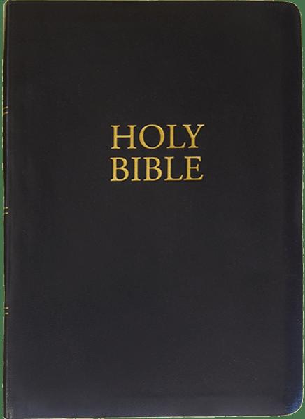 KJV Giant Print Bible   Black   Imitation Leather