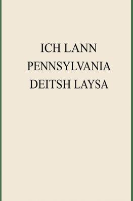 Ich Lann Pennsylvania Deitsh Laysa