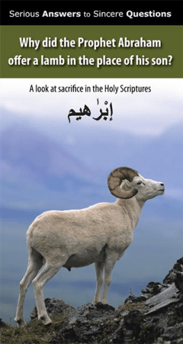 Why did the prophet Abraham offer a lamb in the place of his son?