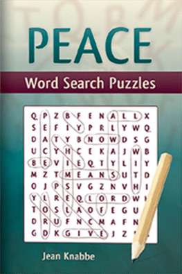 Peace Word Search Puzzle