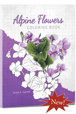 Alpine Flowers Coloring Book