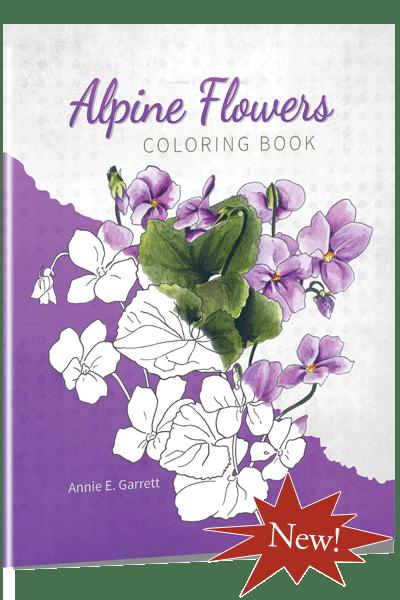 Alpine Flowers Coloring Book