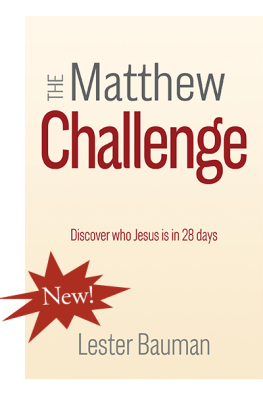 The Matthew Challenge