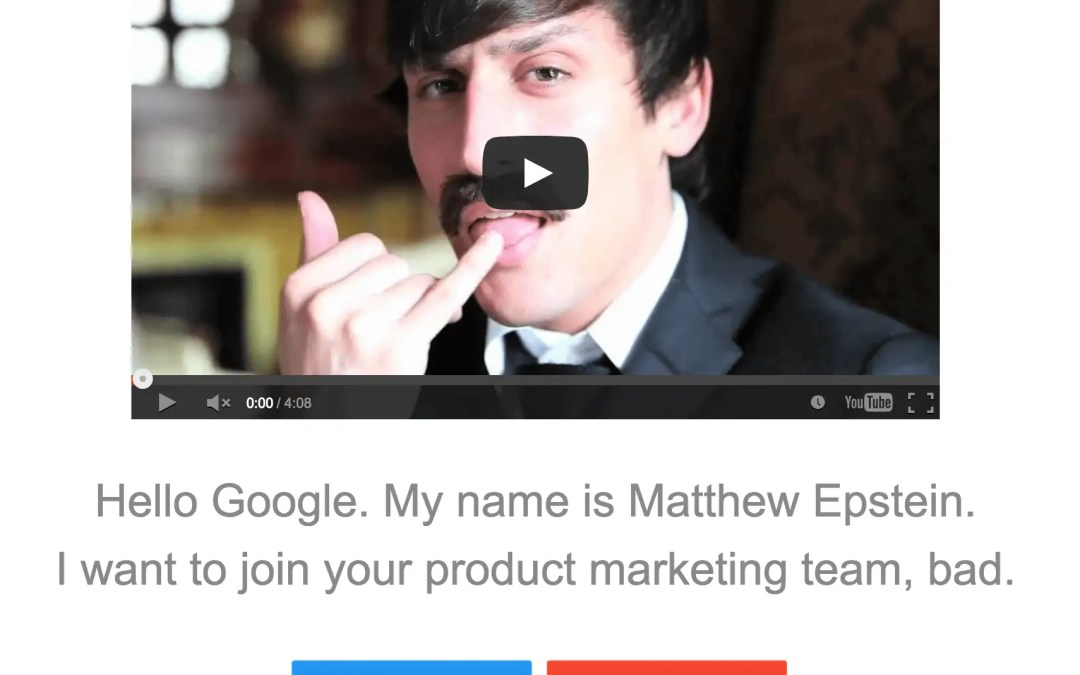 How to Get a Job at Google: Try a Mustache and No Pants